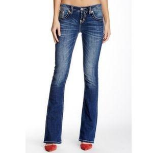 Miss Me Big Stitch Mid Rise Bootcut Jeans